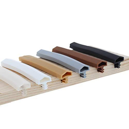 ToniTec Türdichtung Dichtprofil für Holztür Zarge Zargendichtung 12mm 50m Weiß