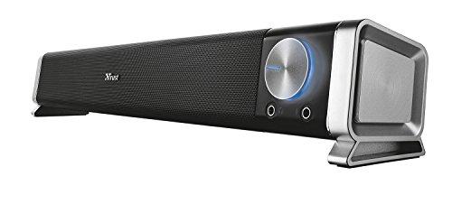 Trust Asto - Barra de sonido para PC de 12 W, conexión USB, negro