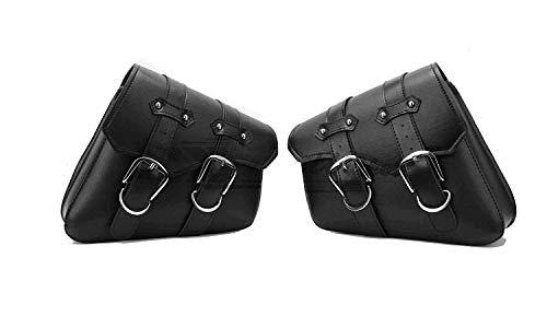 LIDAUTO 2PCS Motorräder Seitenständer Taschen Gepäckträger-Boxen hinten Reise PU Leder Hohe Kapazität Für Harley