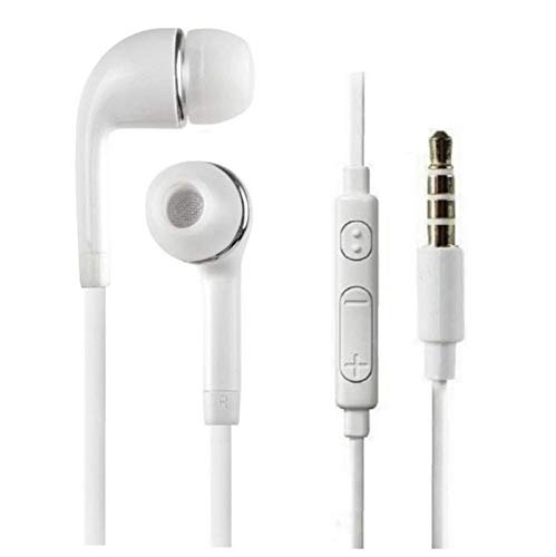 TECH-X 3.5 mm Jack Earphone with Mic for All Smartphones (White)