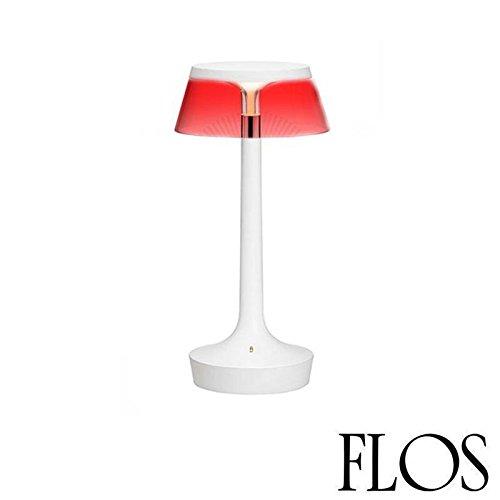 Flos Unplugged Bon Jour Lampe de table blanche à LED avec abat-jour transparent (référence F1036000) Code produit F1035009
