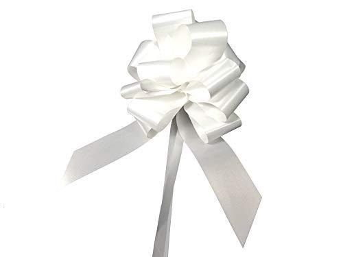 Brizzolari Lot de 50 nœuds en forme de flocon Blanc Pour mariage/voiture ...