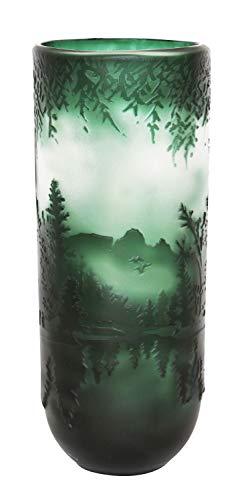 aubaho Vase Replika Nach Galle Gallé Glasvase Glas Antik-Jugendstil-Stil Kopie l