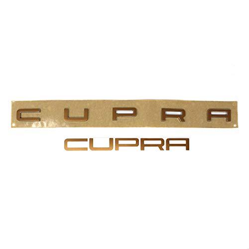 Finest-Folia Cupra Schriftzug Folie für Emblem Aufkleber (Kupfer Matt Metallic SE04)