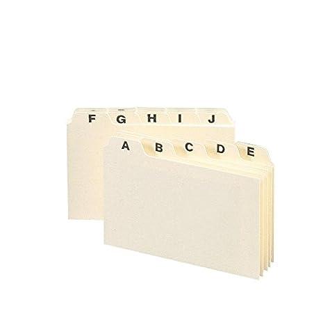 Smead Card Guide, Plain 1/5-Cut Tab (A-Z), 6