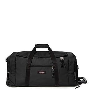 Eastpak Leatherface M + Bolsa de viaje, 87 cm, 69 liters, Negro (Black)