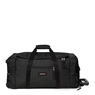 Eastpak Leatherface M + Bolsa de viaje, 87 cm, 69 liters, Negro (Black)