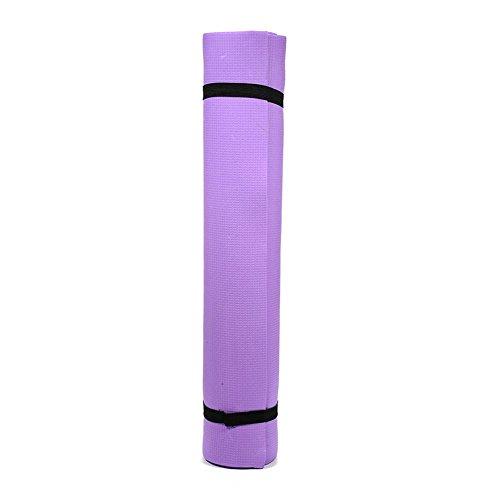 Sponsi Gymnastikmatte EVA wasserdichte Yoga-Matte, Home Gym Training Pilates Gymnastik, ideal für Männer und Frauen (176 x 60 x 0,4 cm), lila (Dick Yoga-matten Für Männer)