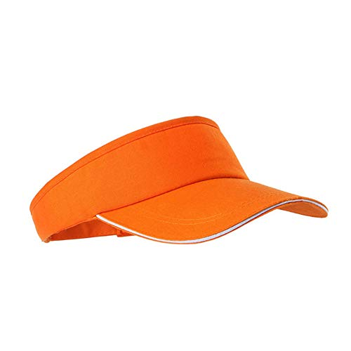 Mode Sonnenblende Hut Neutral Leer Top-Männer Sport Cap Adjustable Sport Solid Color Tennis Golf Baseballmütze für Männer Frauen (orange)