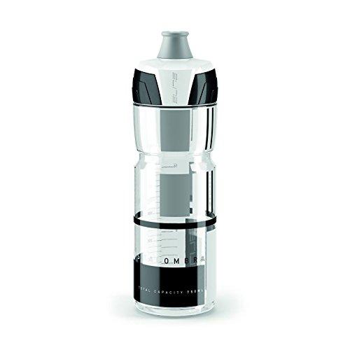 eLITe CrystalOmbra Trinkflasche, Transparent-Grau, 750 ml