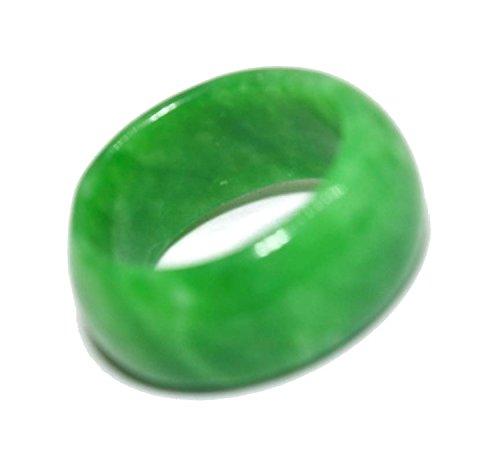 Natur Grün Jade Schmuck Ring