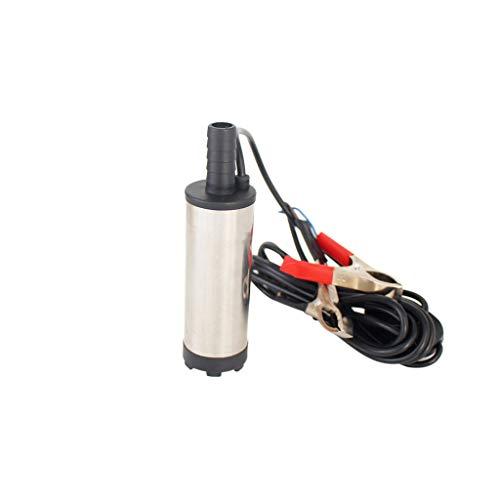 UJUNAOR Autoteile Kraftstoffpumpe für 24V DC 38mm Silber Auto elektrische Tauchöl-Öl-Kraftstoffpumpe 8700r / min Professionel Zubehör Für Autoreparatur Benzinpumpe