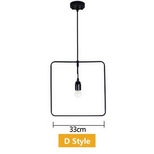 Haoaijia Pendelleuchte Kreis-Deko-Hängende Licht-Lampe Loft Am Wohnzimmer-Schwarz-Metallschnur-Anhänger-Beleuchtungs-Befestigungen, D (Anhänger-beleuchtungs-befestigung)