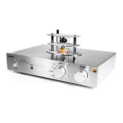 Steljes HiFi Verstärker Stereo Vollverstärker Integriert Bluetooth mit USB DAC Line Phono Eingang, Hybridrohr für hervorragenden Klang, Hi-Res ML-30HD