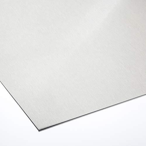 Alublech 3 mm Aluminiumblech ALMg3 Zuschnitt inkl Folie, Größe nach Maß Alu Neu (500 mm x 500 mm)