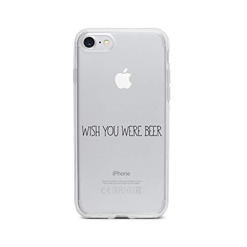 licaso Apple iPhone 7 Handyhülle Smartphone Apple Case aus TPU mit Wish You were Beer Print Motiv Slim Design Transparent Cover Schutz Hülle Protector Soft Aufdruck Lustig Funny Druck