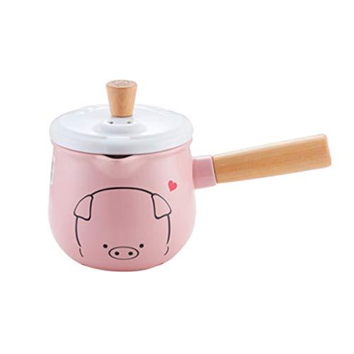 Küchengeschirr Keramisches Milchpfanne-Baby, Das Ergänzungsnahrungsmittelpotentiometerhaushalt, Passend Für Gasherd Kocht (Farbe : B, größe : 1.2L)