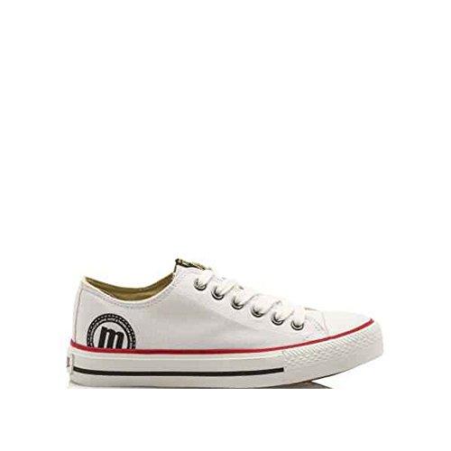 MTNG-Bamba-chica-Zapatillas-de-deporte-unisex-color-canvas-blanco-talla-37