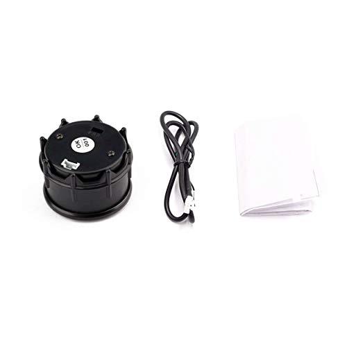 Lorenlli Étanche 12V 52mm Affichage À LED Numérique Voltmètre Mini Tension Mètre Testeur De Volt pour Auto Batterie Voiture Moto Bateau