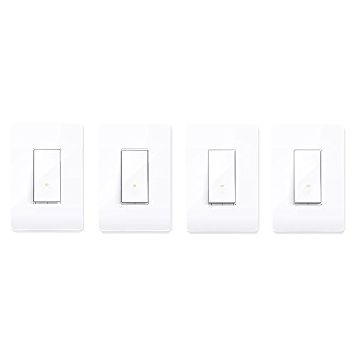 TP-Link Smart HS200 WiFi Light Switch Cover Compatible w/Phone Control (4 Pack)
