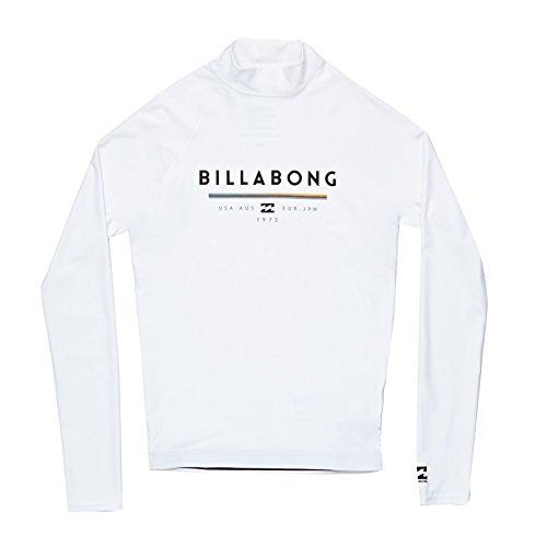 BILLABONG Kids Youth Junior Unity Langarm Quick Dry Leichte Rash Weste Top Weiß. Atmungsaktiv - Leichtes Stretch