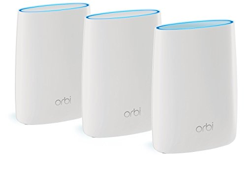 NETGEAR RBK53 Orbi Whole Home Mesh Wi-Fi System (up to 6000 sq ft coverage), Tri-Band AC3000 (3.0 Gbps) - Circle Parental Controls and Alexa enabled