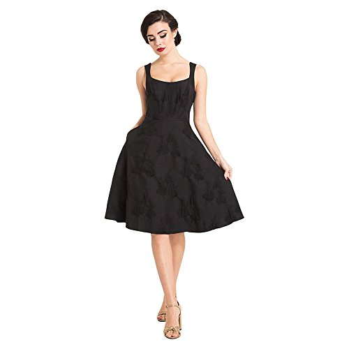 Voodoo Vixen Tiffany Flare Kleid (Schwarz) - Medium