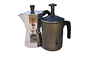 Bialetti Moka 6 cup / Tuttocrema Frother Combo Pack