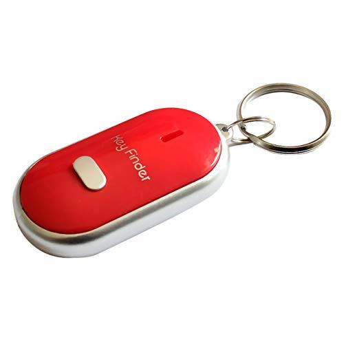 Anti-Perdu Key Finder Intelligent Trouver Localisateur De Porte-clés Sifflet Bip Contrôle Du Son LED Lampe Torche Portable Clé De Voiture Finder rouge