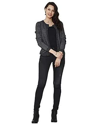 VERO MODA Women's Cardigan (2019221002_Black_XS)