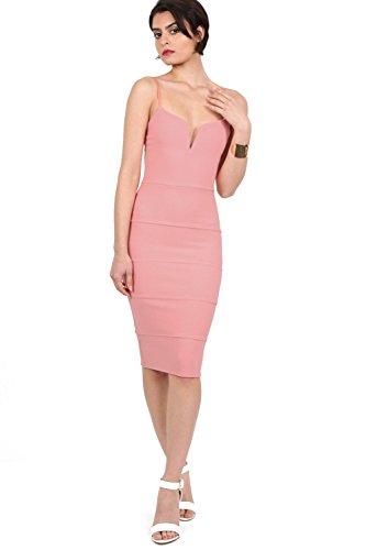 PILOT® v bandage avant robe midi rose bonbon