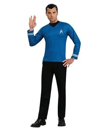 "Star Trek Movie Costume, Mens Spock Blue Costume Top, Style 1, X-Large, CHEST 44 - 46"", WAIST 36 - 40"""