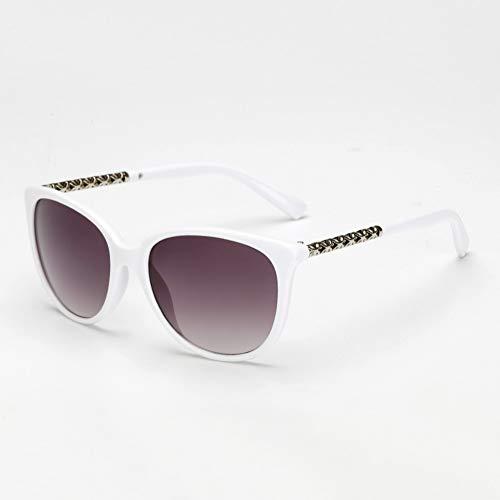 Yuanz Sonnenbrille-Frauen übergroße Retro Sonnenbrille-weibliche Weinlese-runde große Rahmen-Sonnenbrille im Freien Uv400-Brillen,G