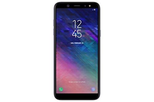 Samsung galaxy a6 (2018) smartphone, 32 gb espandibili, dual sim, colore grigio (lavender) [versione italiana]