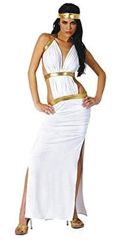 2 Stück Sexy Ägyptische Königin Cleopatra Harem Kostüm Kleid und Stirnband Größe 38-40 (Sexy Harem Kostüme)