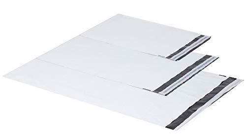 Blancas de plástico bolsas de envío bolsas para envío envío bolsillos LDPE Coex protectores 25X 35Cm 35x peces 40x 60cm 60my, color Blanco 350 x 450mm + 50mm - 100 Stück