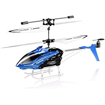 (CERTIFIED REFURBISHED) Toy House Syma Speed Helicopter 3 Channel Infrared Remote Control with Gyroscope and LED Lights for Indoor Blue