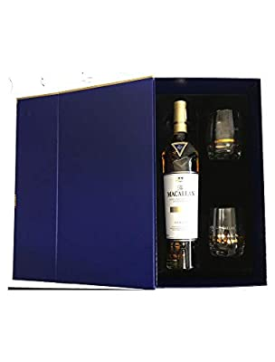 Macallan Gold Double Cask 70cl Limited Edition With Two Branded Glasses In A Gift Box