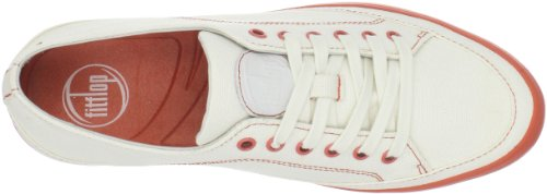 Fitflop  Super T Sneaker Canvas, Baskets basses femme Urban White
