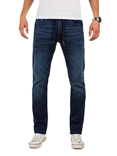 Yazubi Homme Jean Vetement Erik - Slim Fit Jogging Pantalon - Sweatpants in Jeans-Look