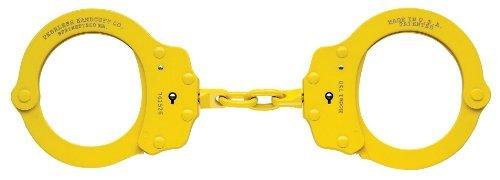 Peerless Handcuff Company 752B Oversize Chain Link Handcuff, Yellow by Peerless Handcuffs -