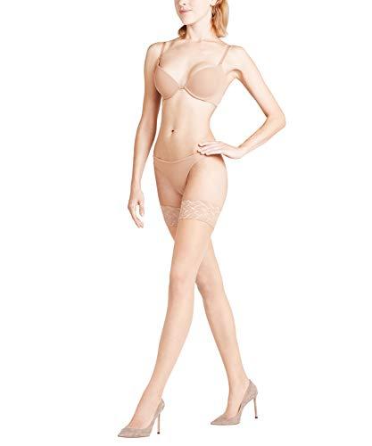 FALKE Damen Stay Ups Shelina 12 Denier - Ultra-Transparente, 1 Paar, Beige (Brasil 4679), Größe: M