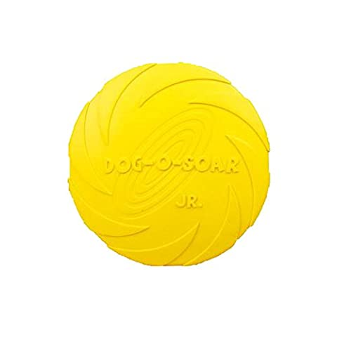 Surblue Pet Dog Silicone Frisbee Training Outdoor Flying Disc Tooth Resistant Chew Toys,Color Vary