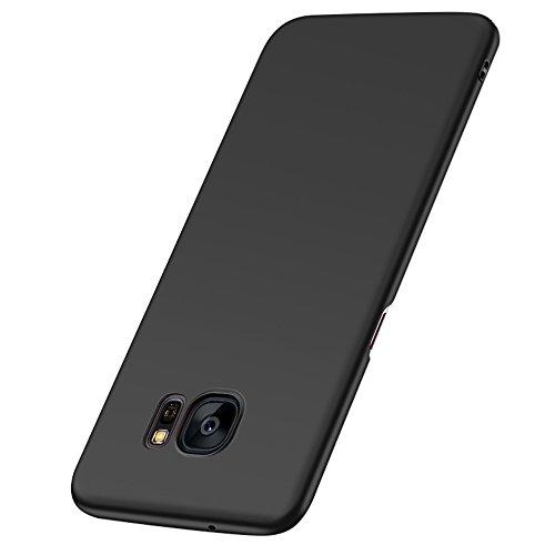 Hülle für Samsung Galaxy S7 Edge, Senisttech Samsung S7 Edge Ultra Slim Schutzhülle ,Anti-Scratch Shockproof und Schutz vor Fingerabdruck, Staub Handyhülle Case für Samsung S7 Edge (Schwarz)
