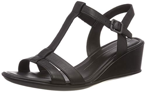 ECCO Shape 35 Wedge Sandal, Scarpe col Tacco Punta Aperta Donna, (Black 1001), 38 EU