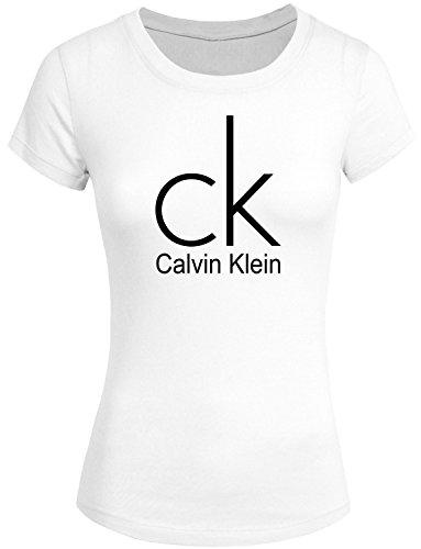 Preisvergleich Produktbild CK Tops T Shirt Womens 2016 New Calvin Klein F16 Global Campaign Short Sleeve T-Shirt Small White