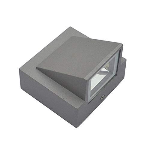 HJL Led Wandleuchte Außenbeleuchtung Wasserdicht Cool White/Warm White Flur Wohnzimmer Schlafzimmer Dekorative Lichter,Gray,B