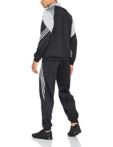 adidas Fußball Bekleidung Sere14 Präsentations Trainingsanzug, Black/Silver/White, M