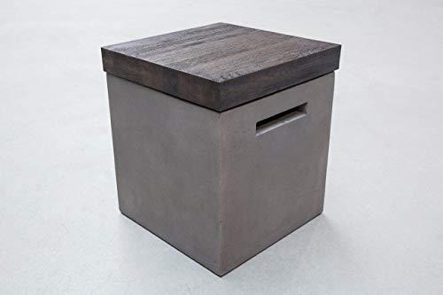 andiamo Betonhocker Divinus/Hortus Sitzhocker Beistelltisch für In- & Outdoor, aus 100% Beton in Grau, Farbe:Grau,...