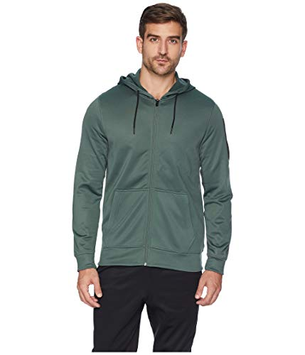 Reebok Herren Work Out Ready Poly Fleece Full Zip Hoodie Kapuzenpullover, Chalk Green, X-Large Reebok Womens Zip Jacket